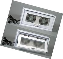 "Basement or Crawl Space Window with Fans - 16""w x 8""h"