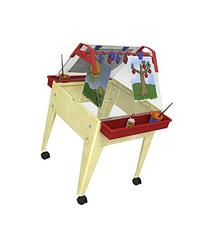 """Childbrite 24"""" Basic Activity Easel with Two Caddies 8 Clips"""