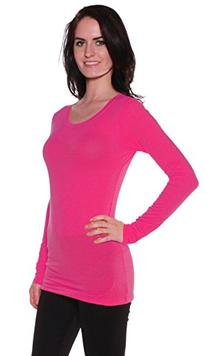 Active Basic Athletic Fitted Plain Long Sleeves Round Crew