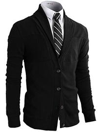 H2H Mens Basic Cardigan with Shawl Collar BLACK US L/Asia