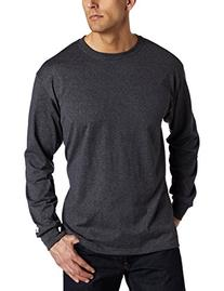 Russell Athletic Men's Basic Cotton Long Sleeve Tee, Black