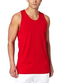 Russell Athletic Men's Basic Cotton Tank Top,True Red,Large