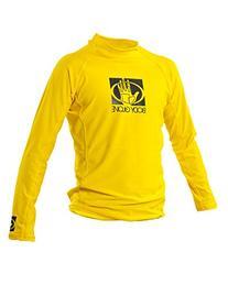 Body Glove Junior Basic Fitted Long Arm Rash Guard, Yellow,
