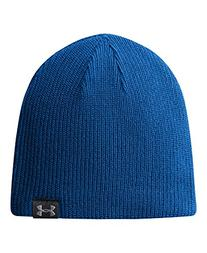 Under Armour Basic Knit Beanie Hat - Royal/Black/Silver -