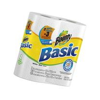 Bounty Basic Paper Towels 2 Select-A-Size Giant Rolls Equal