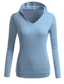 229d48874b2 J.TOMSON Women s Basic Pullover Slim Fit Hoodie with