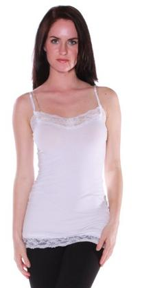 Active Basic Women's Sexy Camisole Cami with Lace and