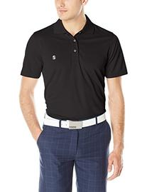 IZOD Men's Performance Golf Grid Polo, Black, Small