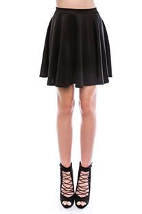 SR Women's Basic Stretchy Flared Skater Skirt , M, Black