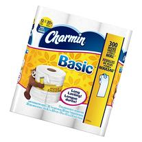 Charmin Basic Toilet Paper, Bath Tissue, Huge Roll, 12 Count