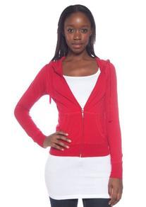 Active Basic Women's Basic Zip Up Hoodie, Mocha, Large