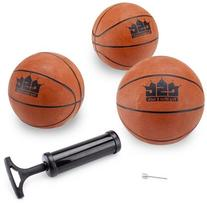 Crown Sporting Goods Mini Basketball with Needle and