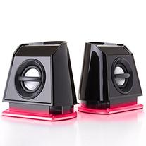 GOgroove BassPULSE 2MX Computer Speakers with Red LED