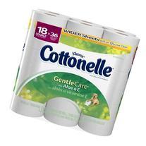 COTTONELLE BATH TISSUE GENTLE CARE WITH ALOE & E DOUBLE ROLL