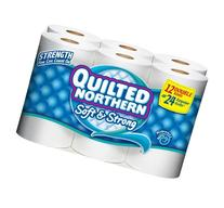 QUILTED NORTHERN BATH TISSUE TOILET PAPER 12 DOUBLE ROLLS