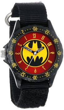 Batman Kids' BAT5036 Time-Teaching Batman Watch with Black