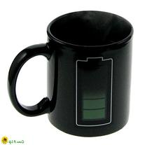 Battery Colour Changing Thermometer Mug Heat Sensitive