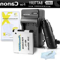 Battery And Charger Kit For Canon Powershot ELPH 180, ELPH