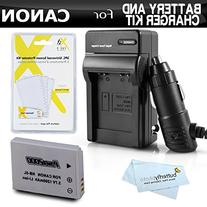 Battery And Charger Kit For Canon PowerShot S100 SX230HS, SX