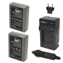 Wasabi Power Battery  and Charger for Olympus BLN-1, BCN-1