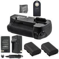 Battery Grip Bundle F/ Nikon D7100, D7200: Includes MB-D15