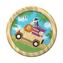 "Creative Converting BB415520 Wild Safari 7"" Cake Plates -8"