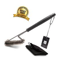 BBQ Grill Brush By Hard Crafts - Best Barbecue Grill Cleaner