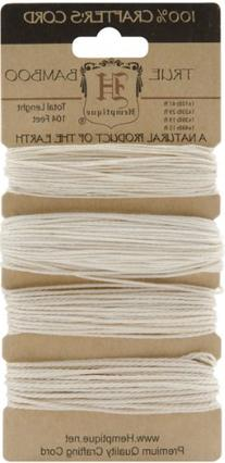 Hemptique Bamboo Cord, 104-Feet, Natural