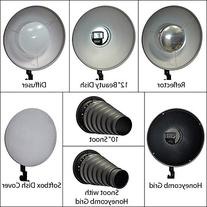 Opteka BD-100 12-Inch Beauty Dish / 10-Inch Snoot