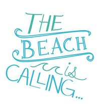 WallPops Beach is Calling Wall Quote Decal