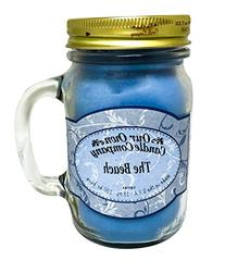 The Beach Scented 13 Ounce Mason Jar Candle By Our Own