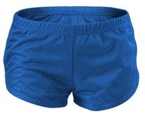 "Soffe Big Girls' Brd Msh Short 2"""" Poly, Royal, SML"