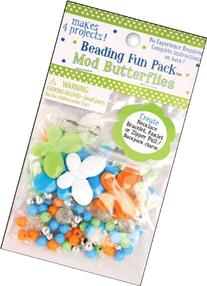 Beading Fun Packs-Mod Butterfly-Assorted Colors