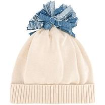 Federica Moretti - 'Denim Pom Pom' beanie - women - Cotton