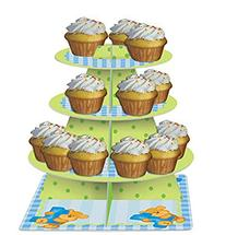 Bear's 1st Birthday Boy 3-Tiered Cupcake Stand