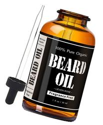 Fragrance Free Beard Oil & Leave In Conditioner, 100% Pure