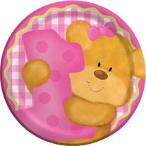 Creative Converting Bears First Birthday Round Dessert