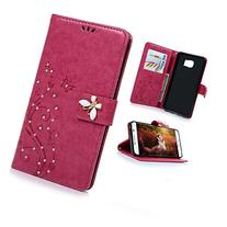 KAKA Beauty Printing Flower PU Leather Standing Protected