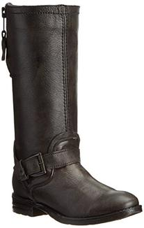 Bed Stu Women's Token Motorcycle Boot, Gray Barcelona/Black