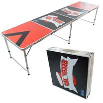 NEW 8' BEER PONG TABLE ALUMINUM PORTABLE ADJUSTABLE FOLDING