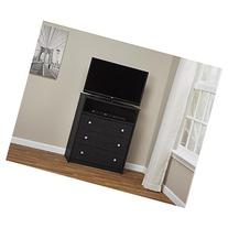 Essential Home Belmont Highboy TV Stand - Black