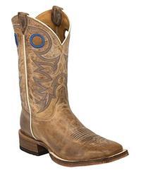 Justin Men's Bent Rail Cowboy Boot Square Toe Beige 6 EE US