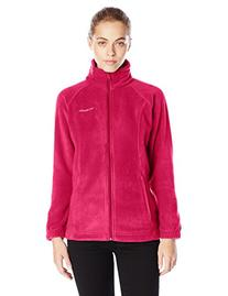 Columbia Women's Benton Springs Full Zip, Pomegranate, Small