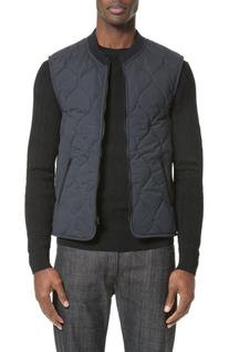 Men's A.p.c. Bern Quilted Vest, Size Large - Blue