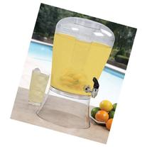 Creative Bath 3-Gallon Beverage Dispenser with Ice Cylinder