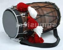 SG Musical Bhangra Dhol pure sheesham in plain finish