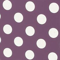 iGadgitz Purple with White Polka Dots 'Bi-View' PU Leather