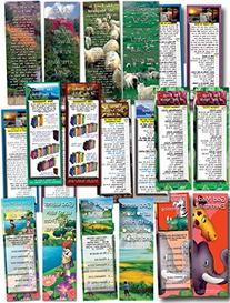 Bible Cards - Assorted Pack of 10 Bookmark Size Cards & Free