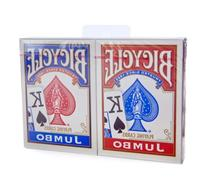 Bicycle Jumbo Index Rider Back Playing Cards, Red and Blue,