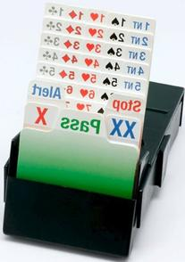 Bridge Partner Bidding Device with Laquered Cards  Boxes